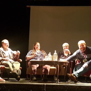 Crystal and other panelists at Icecon in Reykjavik, Iceland.